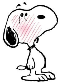 Snoopy blushing