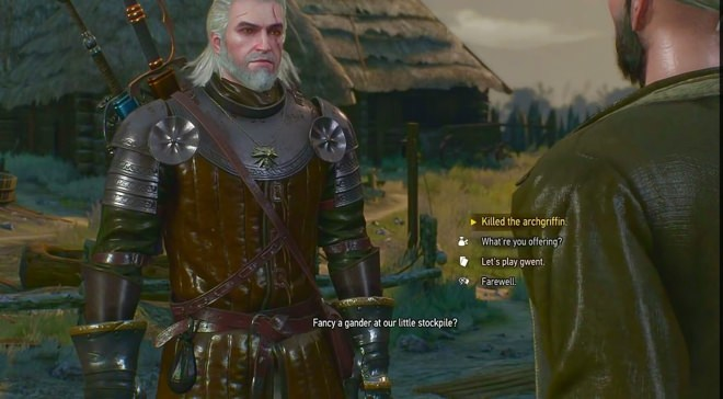Witcher 3 dialog options