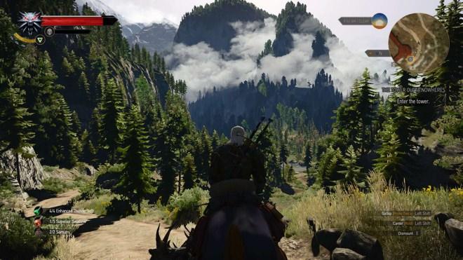 On horseback in Witcher 3