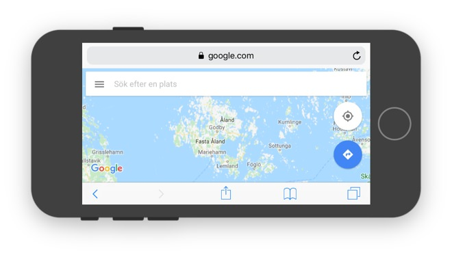 Screenshot of the Google Maps website.
