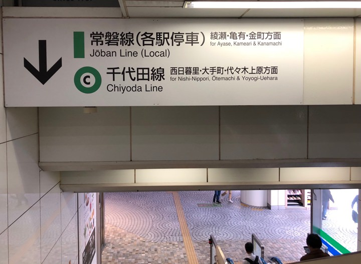 Signs in the Tokyo subway