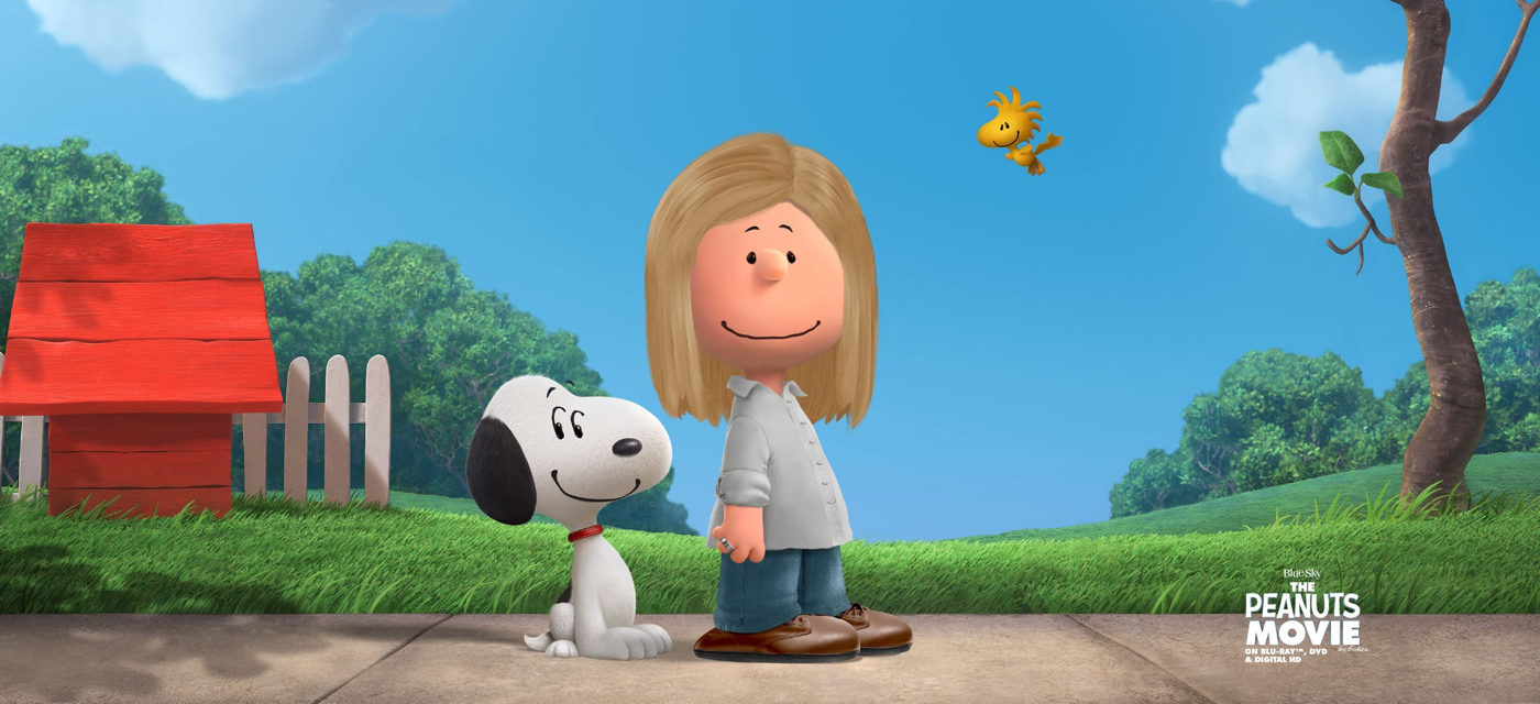 An illustration of of me with Snoopy from the Peanuts comic strip