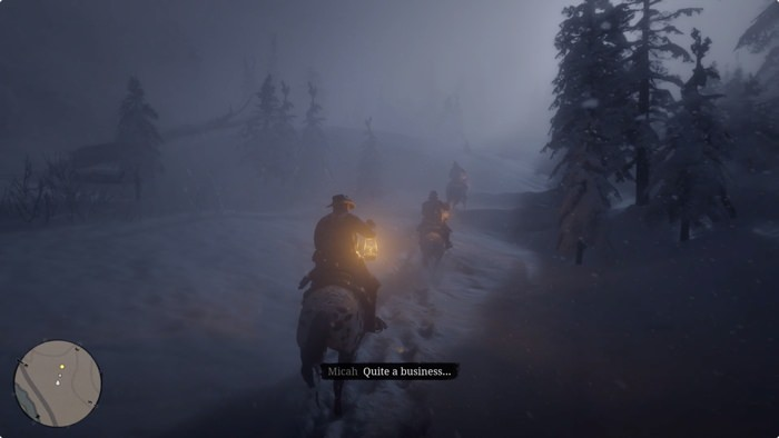 Subtitles on screen in Red Dead Redemption 2
