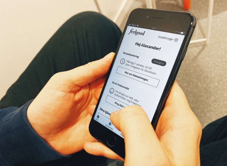 App prototype running on iPhone 8